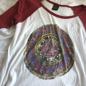 obey rose graphic baseball tee